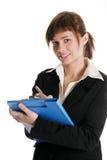 Businesswoman make notes Royalty Free Stock Photos