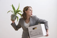 Businesswoman Makes a Silly Face Royalty Free Stock Images