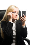 Businesswoman with makeup Royalty Free Stock Photography