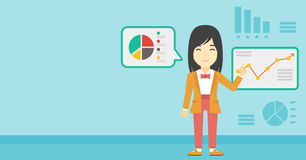 Businesswoman making business presentation. Stock Photo