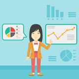 Businesswoman making business presentation. Royalty Free Stock Photography