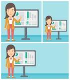 Businesswoman making business presentation. Stock Image