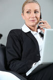 Businesswoman making a call Royalty Free Stock Photography