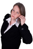 Businesswoman making a cell Royalty Free Stock Image