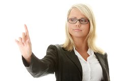 Businesswoman making choise Royalty Free Stock Image