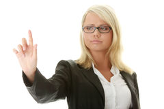 Businesswoman making choise Royalty Free Stock Photography
