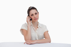 Businesswoman making a phone call Royalty Free Stock Photos