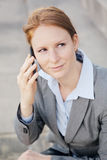 Businesswoman Making a Phone Call Royalty Free Stock Images