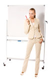 Businesswoman making presentation Stock Photo
