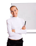 Businesswoman making presentation Stock Images
