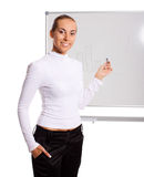 Businesswoman making presentation Stock Photography