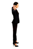 Businesswoman making stop sign Royalty Free Stock Photography
