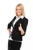 Businesswoman making thumbs up Royalty Free Stock Photo