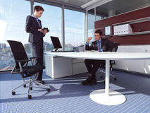 Businesswoman and man aa Stock Images