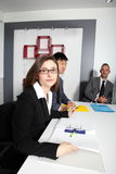 Businesswoman in a management meeting Royalty Free Stock Images