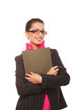 Businesswoman manager with folder Stock Image