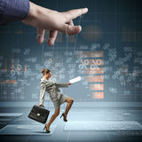 Business woman marionette Stock Photography