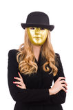 Businesswoman in mask isolated Stock Photography