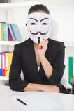 Businesswoman in mask. Stock Photos