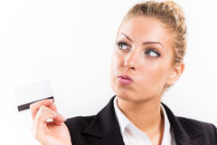 Businesswoman with master card Royalty Free Stock Photography