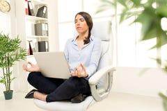 Businesswoman Meditating Royalty Free Stock Photography