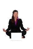 Businesswoman meditating Stock Photos