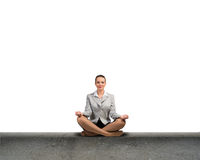 Businesswoman meditating Stock Photography