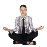 Businesswoman in meditation Stock Image