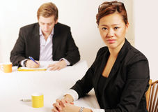 Businesswoman in meeting Stock Image