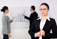 A businesswoman in a meeting Stock Photo