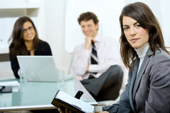 Businesswoman at meeting Royalty Free Stock Photos
