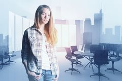 Businesswoman in meeting room Royalty Free Stock Image