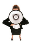 Businesswoman with Megaphone Royalty Free Stock Image