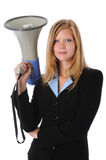 Businesswoman With Megaphone Royalty Free Stock Photography