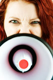 Businesswoman with Megaphone Royalty Free Stock Photo