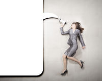 Businesswoman with megaphone Stock Photography