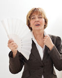 Businesswoman in Menopause Royalty Free Stock Photo