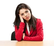 Businesswoman with migraine Stock Photos