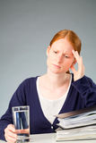 Businesswoman with a Migraine Royalty Free Stock Photography