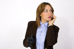 Businesswoman with mobile Stock Photography