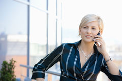 Businesswoman on mobile Royalty Free Stock Photo