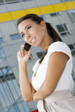 Businesswoman with mobile Royalty Free Stock Photography