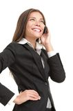 Businesswoman on mobile phone Stock Photography