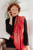 Businesswoman with mobile phone. Royalty Free Stock Image