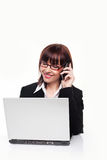 Businesswoman On Mobile Phone Royalty Free Stock Photos