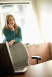 Businesswoman on mobile phone Royalty Free Stock Photo