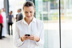 Businesswoman mobile phone Stock Photo