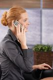 Businesswoman on mobile phone call Royalty Free Stock Image