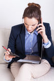 Businesswoman during mobile phone call Royalty Free Stock Photo