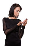 Businesswoman with the mobile phone Royalty Free Stock Photo